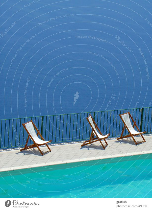 Water Ocean Blue Vacation & Travel Swimming pool Deckchair