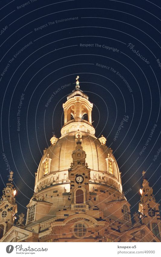 The Frauenkirche at night Dresden Night Light