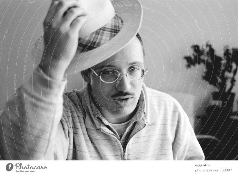 ulrich greets Salutation Portrait photograph Gentleman Man Hat Human being
