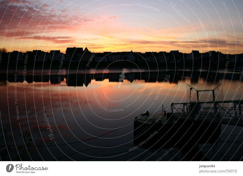 Rhine Evening sun Koblenz
