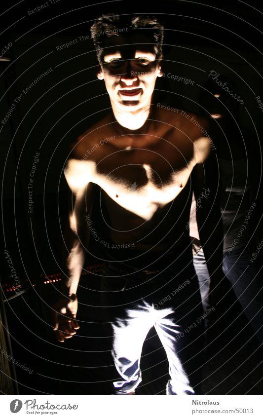 Man Dark Lighting Masculine Dangerous Radiation Ghosts & Spectres  Musculature Floodlight Monster Spooky Flare Beam of light