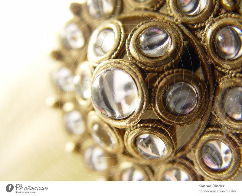 eyes Mirror Gold Glass Pin