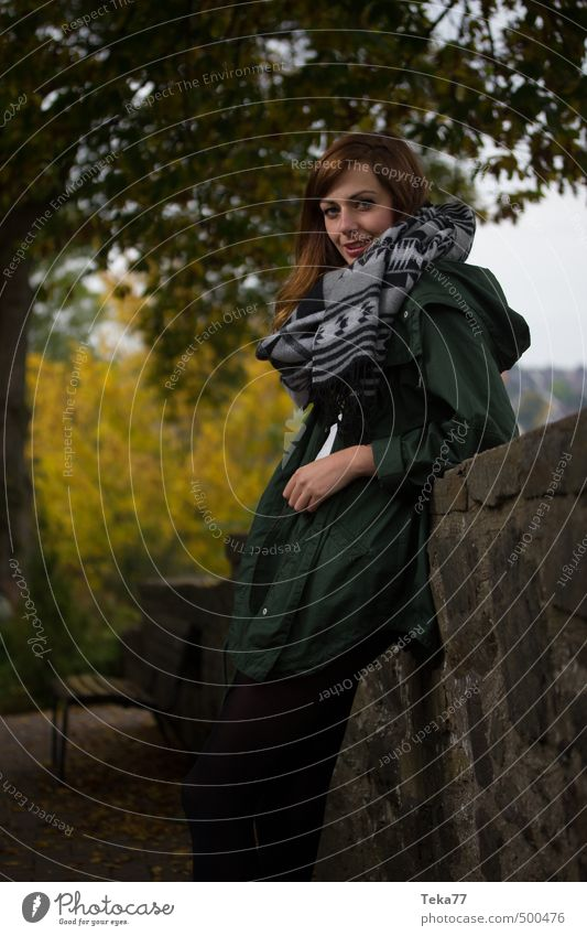 Autumn girl 1 Human being Feminine Young woman Youth (Young adults) 18 - 30 years Adults Environment Nature Landscape Emotions Moody Subdued colour