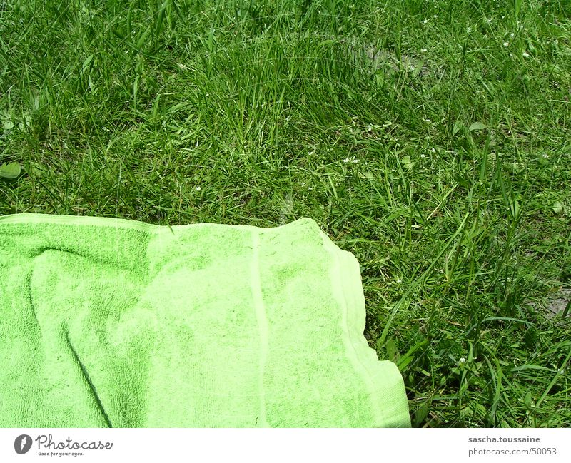 Sun Green Summer Beach Meadow Grass Lawn Lie Leisure and hobbies Swimming & Bathing Cloth Solar Power Sunbathing Towel