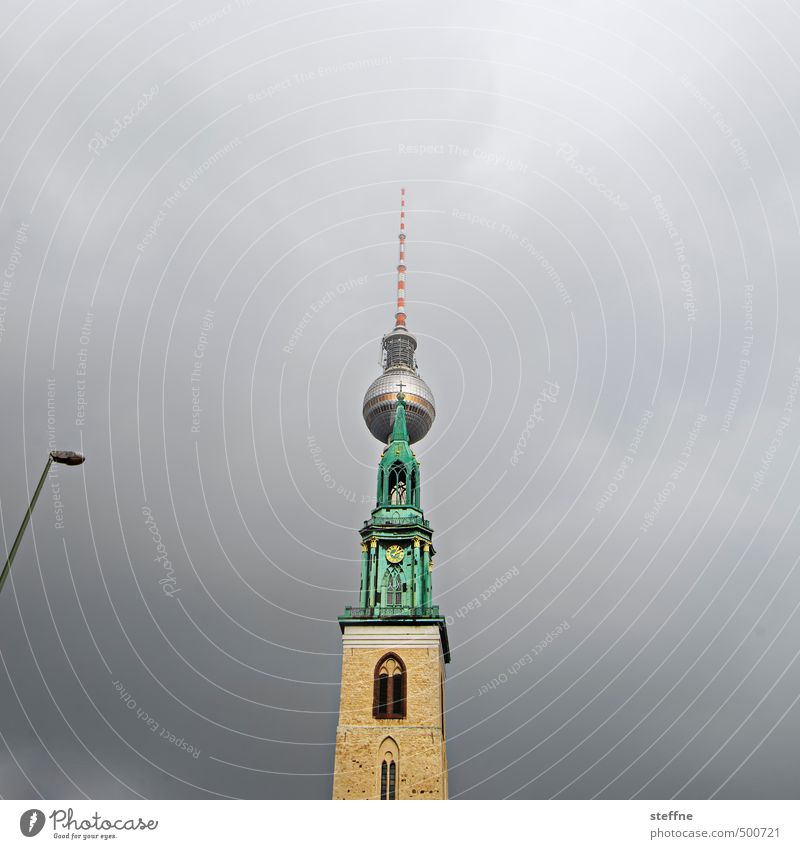 berlin, for zett Berlin Berlin TV Tower Downtown Berlin Capital city Skyline Church Tourist Attraction Landmark Esthetic Church of Our Lady Storm
