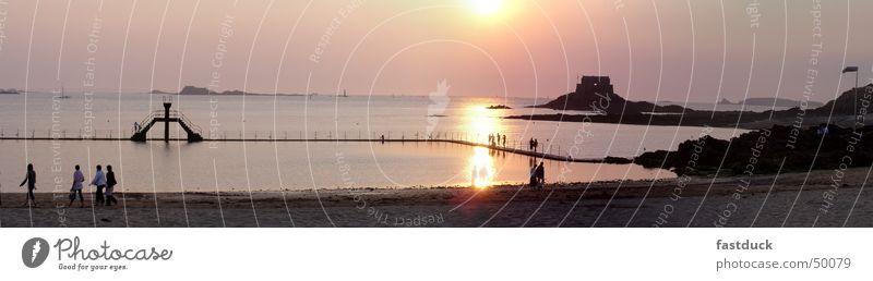 Water Sun Ocean Summer Beach Yellow Rock Island Swimming & Bathing France Springboard Fortress High tide Low tide Nature