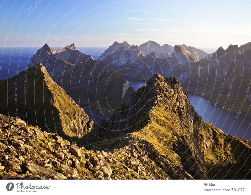Nature Vacation & Travel Landscape Far-off places Mountain Emotions Earth Moody Together Power Idyll Success Authentic Hiking Perspective Warm-heartedness
