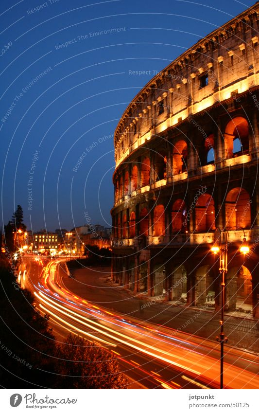 Colosseum Rome Ancient Long exposure