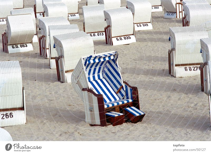 Sun Summer Beach Relaxation Sand Well-being Beach chair Rügen One of many