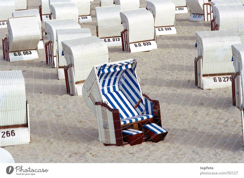 Sun Summer Beach Relaxation Sand Well-being Beach chair Rügen One of many