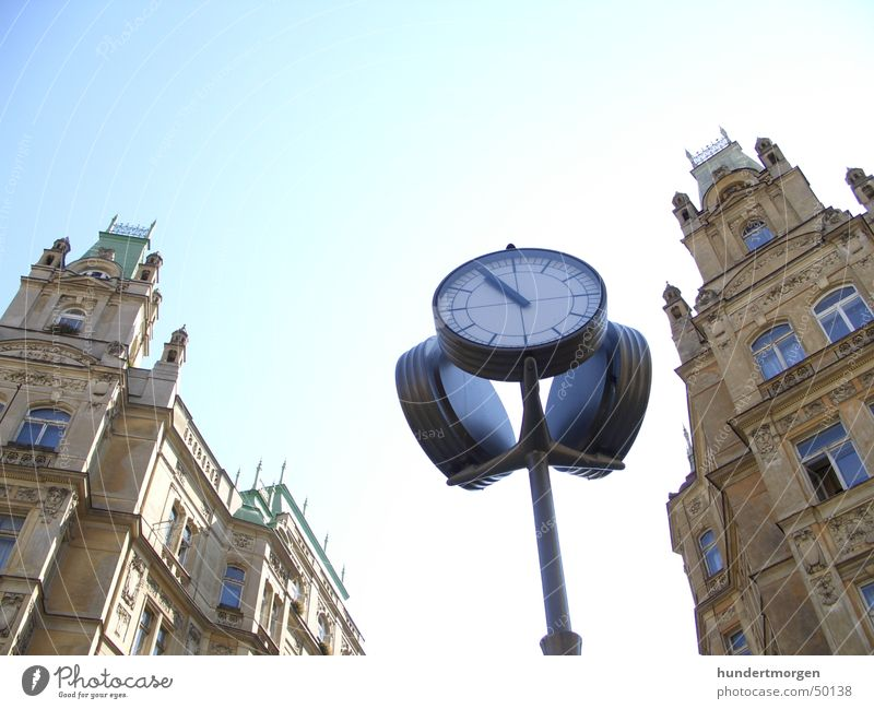 Jewish Quarter in Prague Clock House (Residential Structure) Facade Architecture