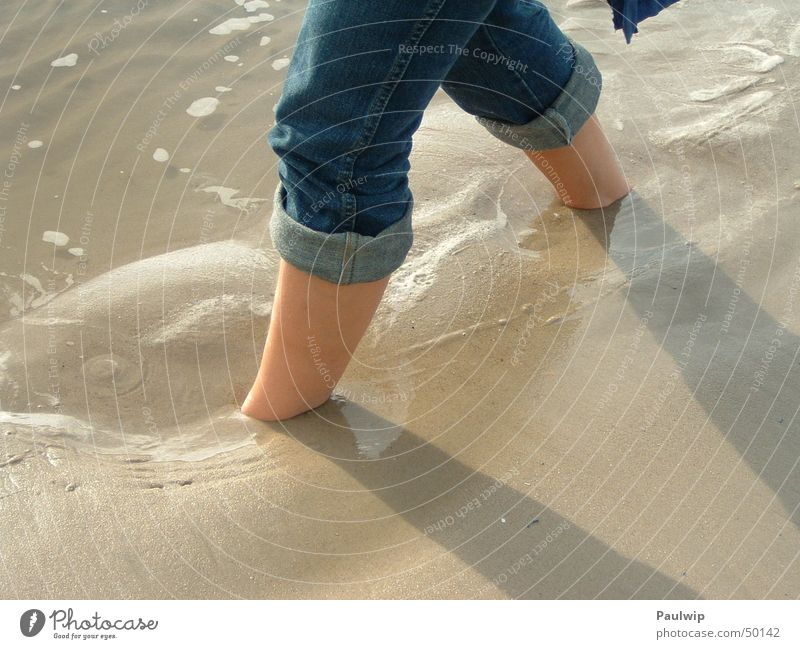 Continue Stride Beach Ocean Barefoot Sand Part Earth Water