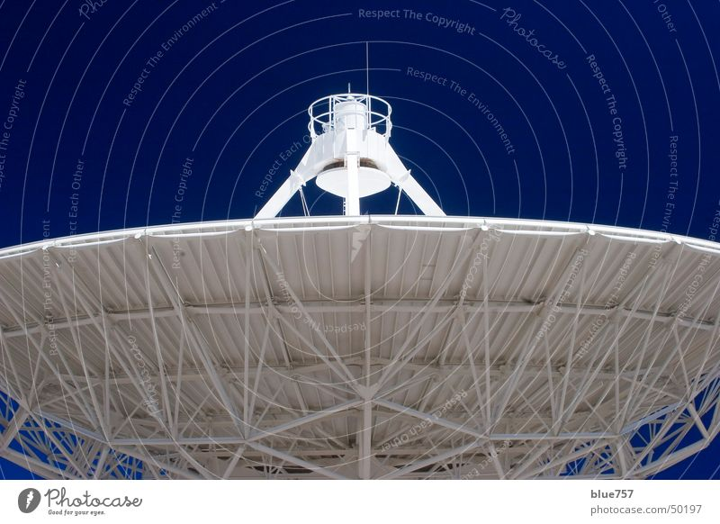 Ear to the universe Sky White Radio telescope Antenna Very Large Array Blue Structures and shapes structure contact