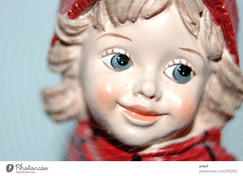 Red Girl Winter Joy Eyes Laughter Cap Doll Pierce Carriage