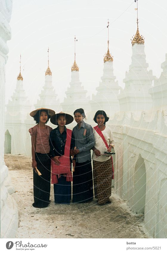 Extraterrestrial Earthly Myanmar Temple Asia White Clothing Human being Colour Contrast