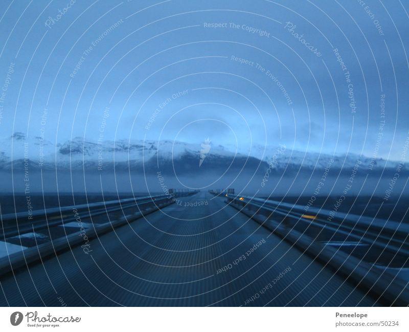 Street Fog Empty Highway Iceland Belt highway