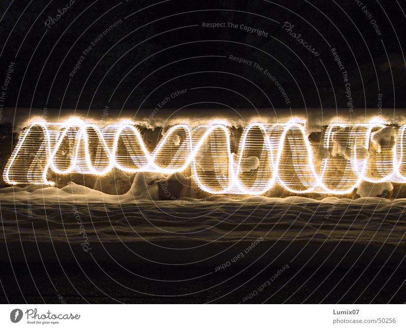 Chain of lights 1 Long exposure Stripe Light Fairy lights Visual spectacle Style Night Lamp Physics Crazy Light (Natural Phenomenon) Tracks Movement Warmth