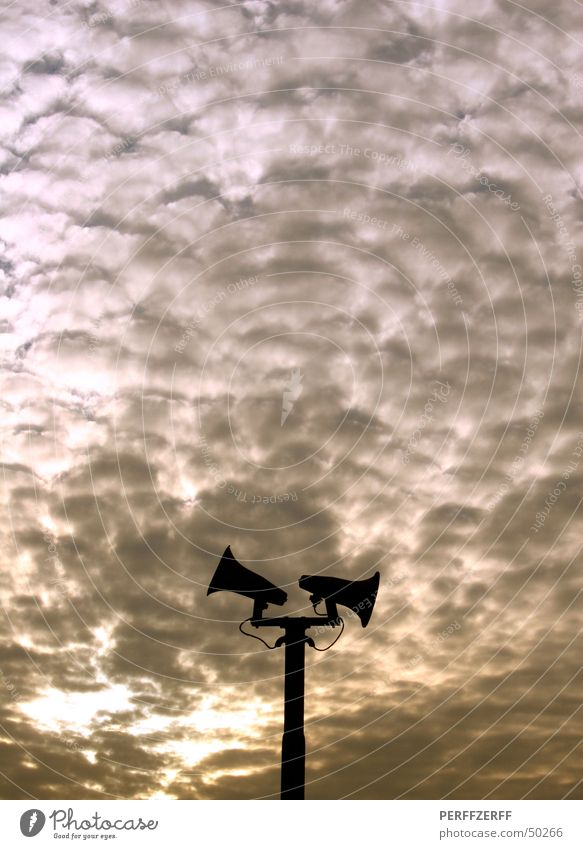 Megaphone Gothok Loudspeaker Sunset Sky Train station gothok