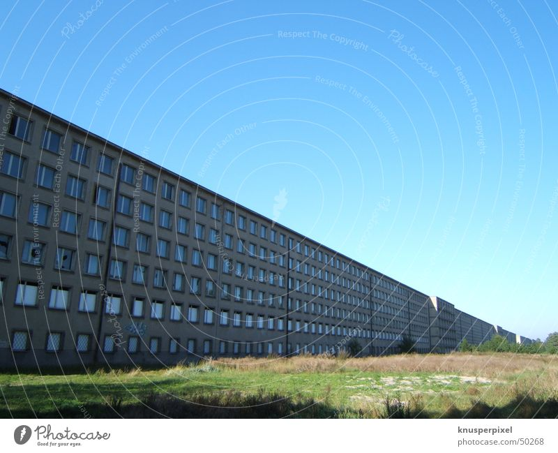 prora Prora House (Residential Structure) Might Exterior shot Rügen KDF Sky Past Blue Gigantic Digital photography