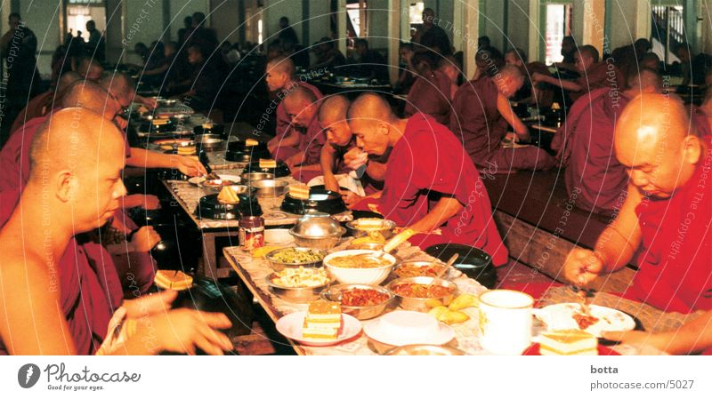 Last Supper Monk Myanmar Human being Nutrition Dinner Colour Americas Contrast