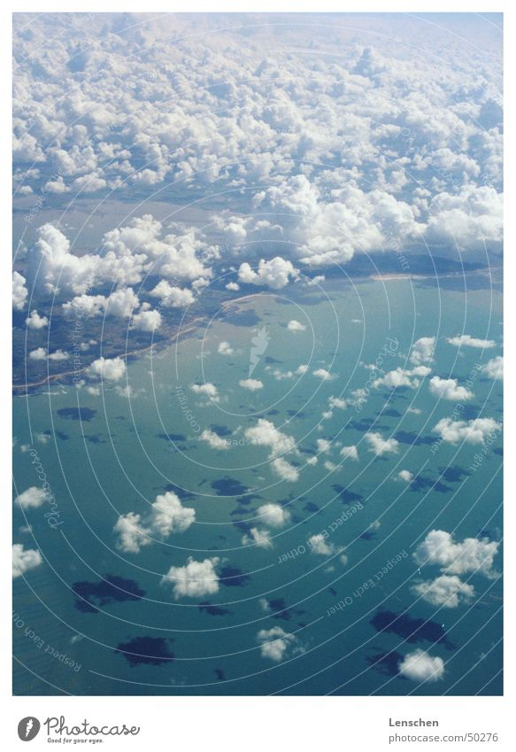 Sky Sun Ocean Vacation & Travel Clouds Freedom Flying Island Turquoise