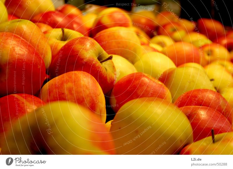 Nature Green Red Yellow Nutrition Brown Healthy Fruit Round Kitchen Apple