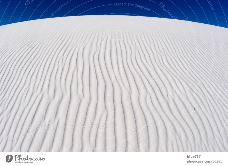 Sky White Blue Sand Waves Gypsum sand