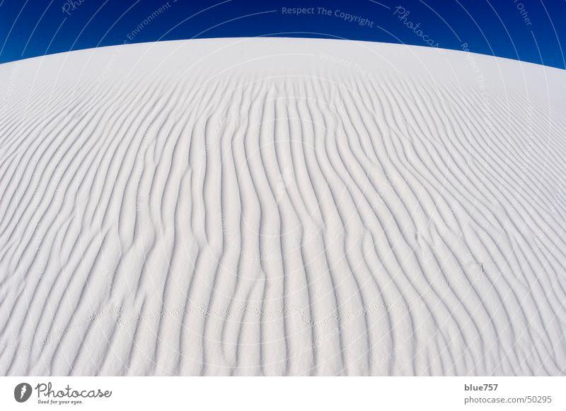 Sky White Blue Sand Waves Gypsum sand