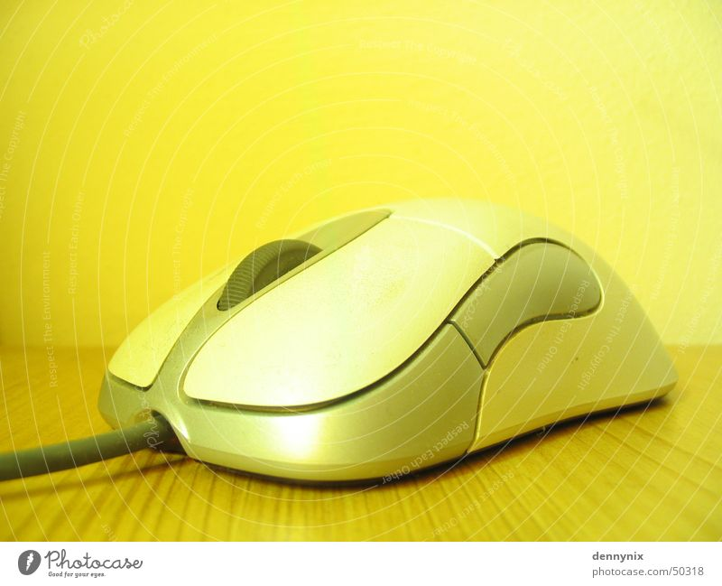 Yellow Computer mouse