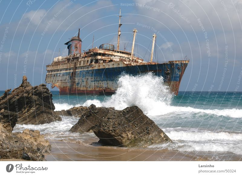 Beach Watercraft Waves Cruise Fuerteventura Canaries American Star