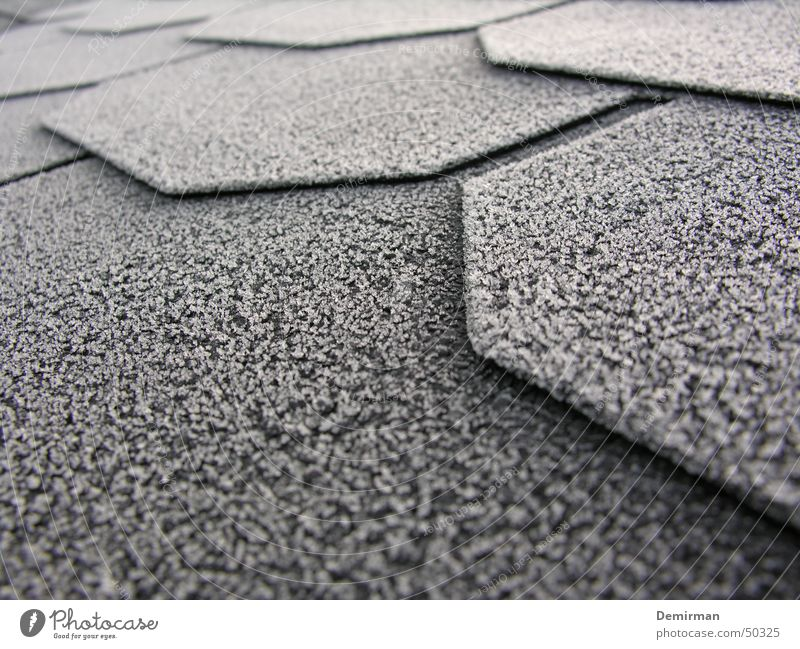 frost cloth Winter Cold Roof Black White Corner Frost Disk Contrast Rope Snow Crystal structure