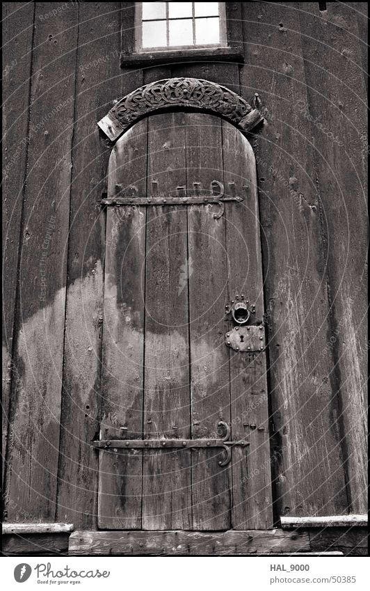 stavkirke portal 2 Gray scale value Wood Portal Window Under Christianity Old Black & white photo Medieval times Door Gate Religion and faith Derelict