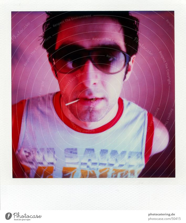polaroid SX 70 Eyeglasses Match Red Disco Man Cool (slang) Polaroid sx70 sx 70 portait