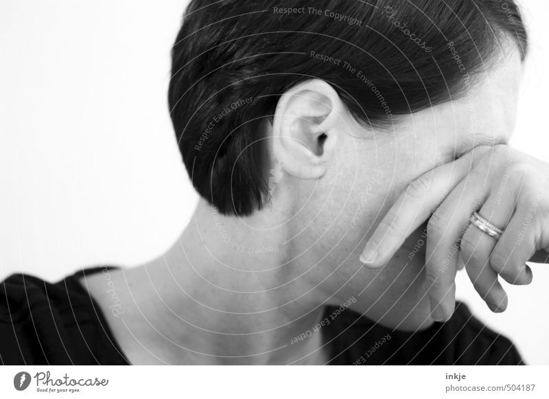 Human being Woman Hand Face Adults Life Sadness Emotions Style Lifestyle Grief Ring Stress Partner Shame Lovesickness