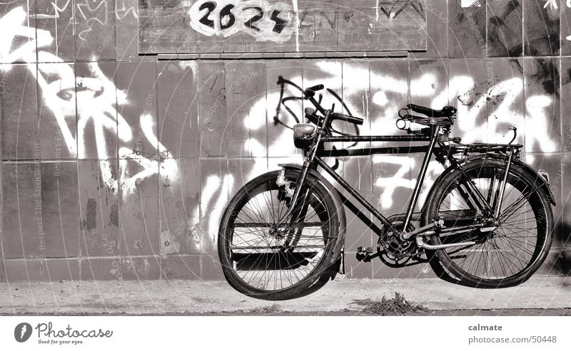 - old wire - Bicycle Means of transport Old sprayed facade graffiti 2624