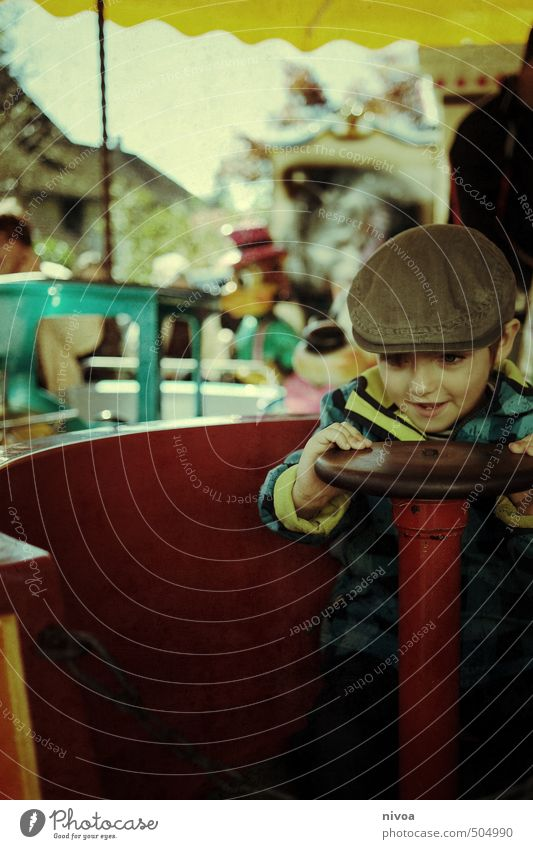 Half rotation Leisure and hobbies Child Masculine Boy (child) Infancy Face 1 Human being 3 - 8 years Event Autumn Village Small Town Marketplace Playground