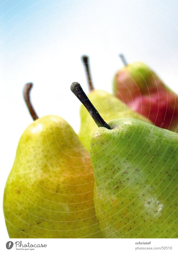 Green Yellow Healthy Fruit Stalk Mature Vitamin Juicy Pear