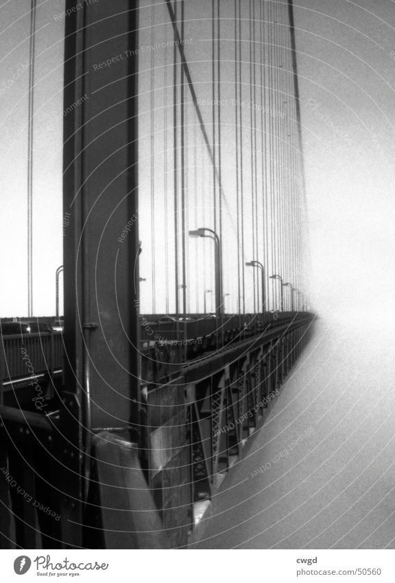 the bridge into nothing... Golden Gate Bridge San Francisco Americas California Coast Fog Monochrome Infinity bay USA Street Black & white photo