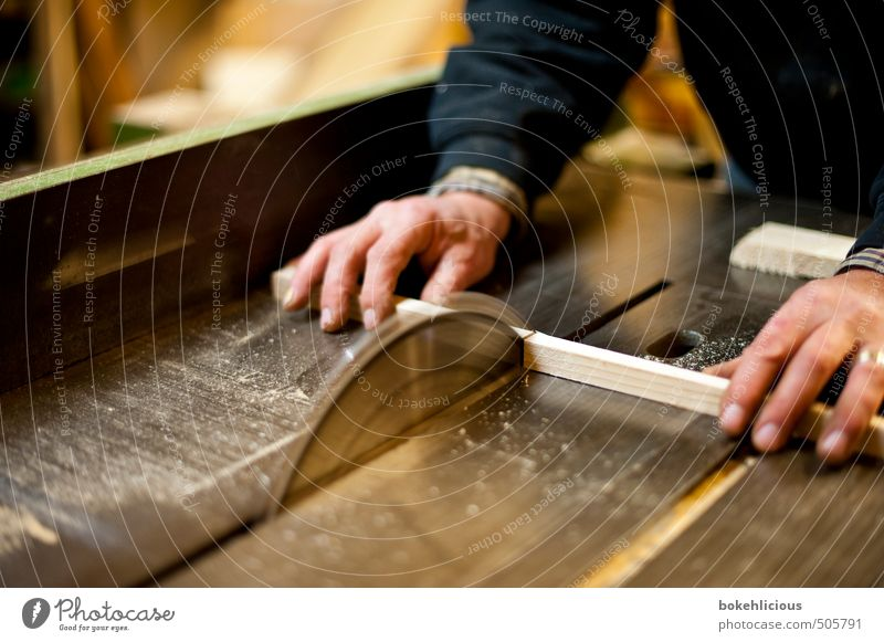 craft Handicraft Home improvement Craftsperson Wood work Saw Wooden board Professional training Craft (trade) Human being Masculine Man Adults 1