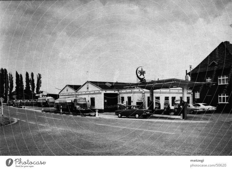 Old petrol station Petrol station Spirit Refuel The fifties Gasoline 1950