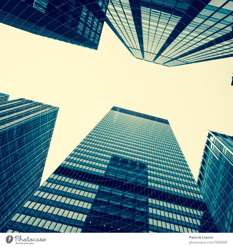 superlative Town Skyline High-rise Bank building Manmade structures Building Architecture Wall (barrier) Wall (building) Window Esthetic Bright Adventure