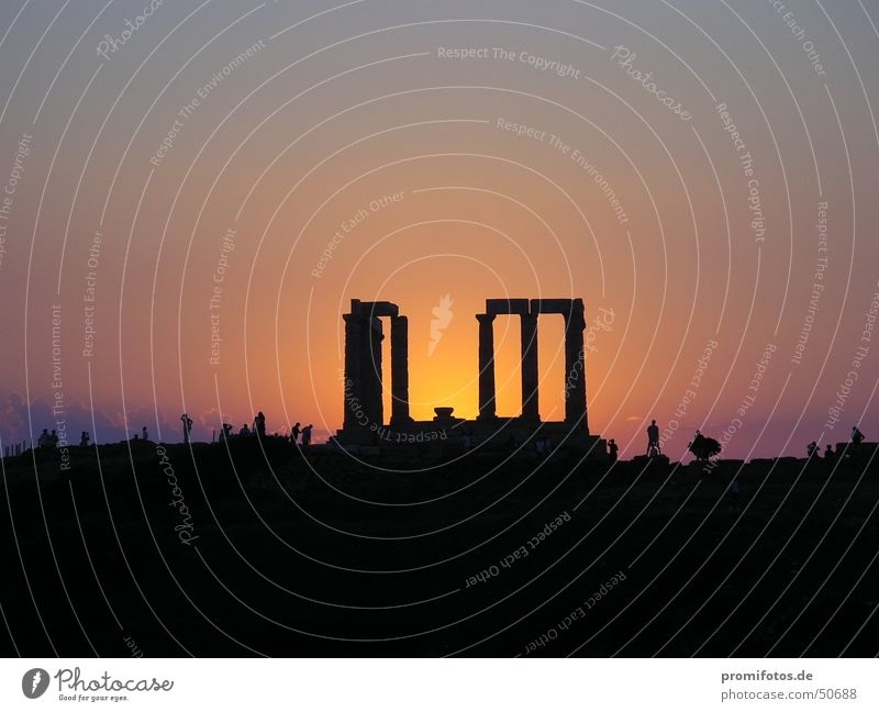 Religion and faith Tourism Past Ruin Dusk Greece Temple