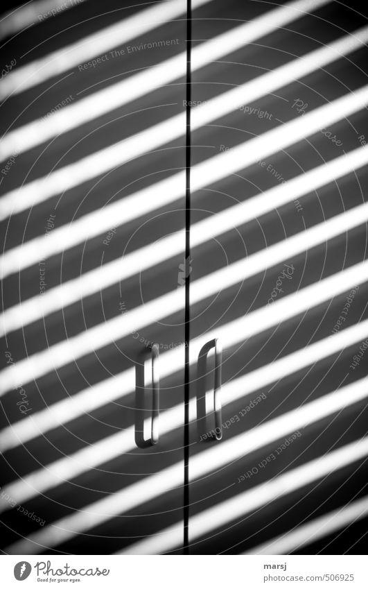 zebra cabinet Furniture Cupboard handle Wardrobe door Exceptional Dark Sharp-edged Simple Infinity Cold Black White Serene Calm Stripe striped look
