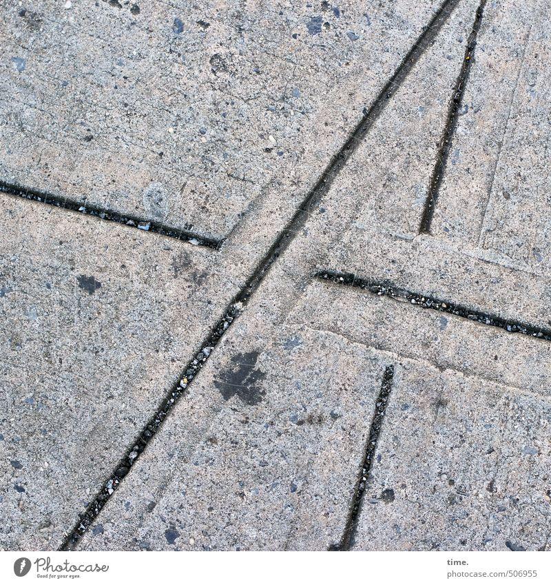 street mat Transport Traffic infrastructure Street Lanes & trails Sidewalk Concrete Line Furrow Patch Trashy Dry Town Relationship Inspiration Art Center point