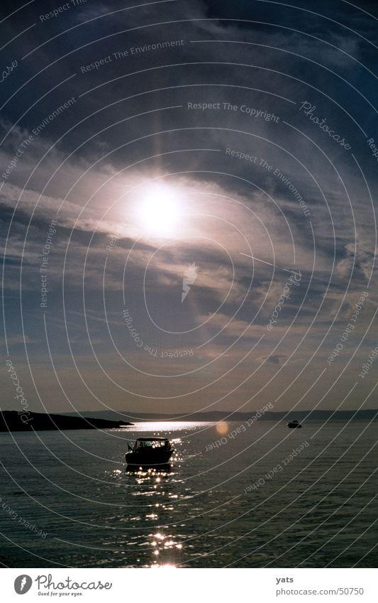 Water Sun Ocean Clouds Watercraft Dusk Croatia