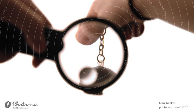 magnifier Hand Blur Fingers Keyring Enlarged Nail Magnifying glass Chain Glass Statue