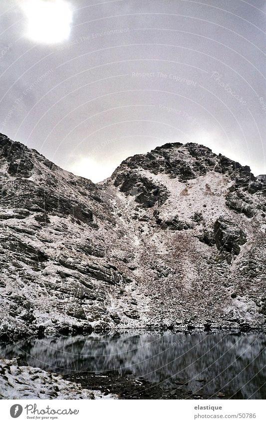 Winter Calm Cold Snow Mountain Lake Rock Clarity Rough Virgin snow