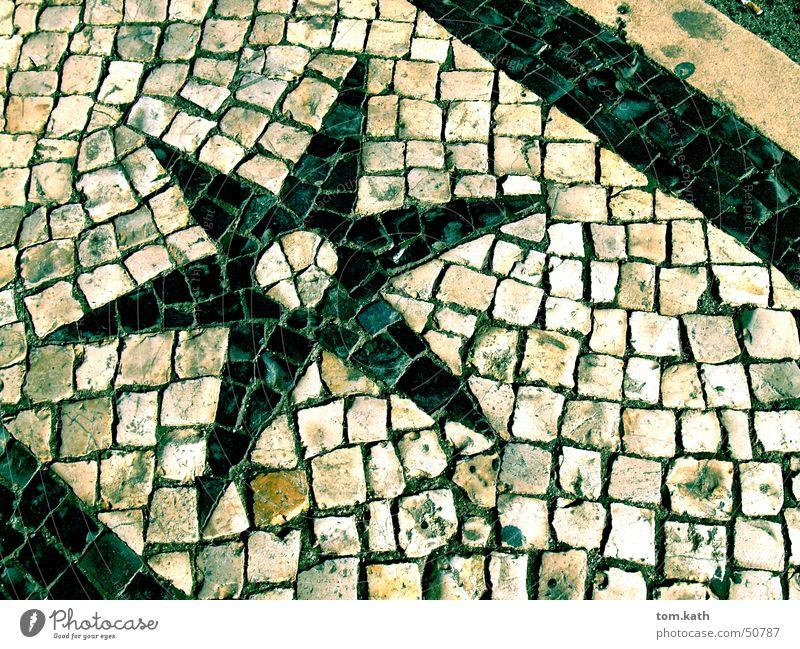 Stone Star (Symbol) Cobblestones Paving stone Lisbon Portugal