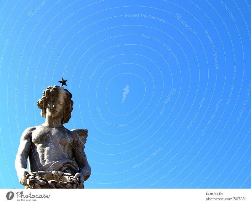 angels Fishing rod Sky Angel Blue Stone heaven