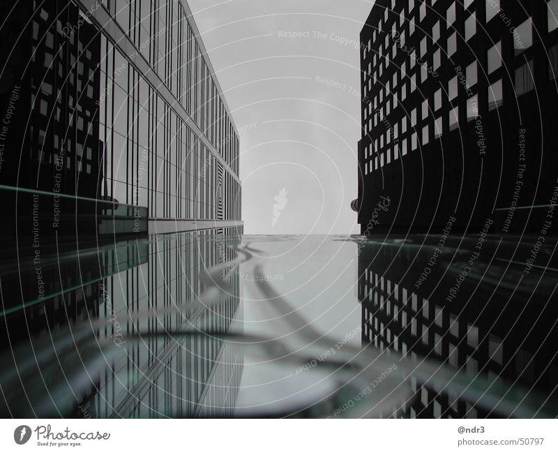 street mirror building gray water drop